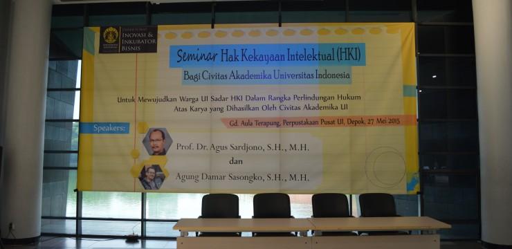 Seminar Hak Kekayaan Intelektual (HKI) Bagi Civitas Akademika UI