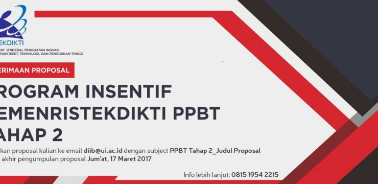 Program Insentif PPBT Tahap 2, Kemenristekdikti