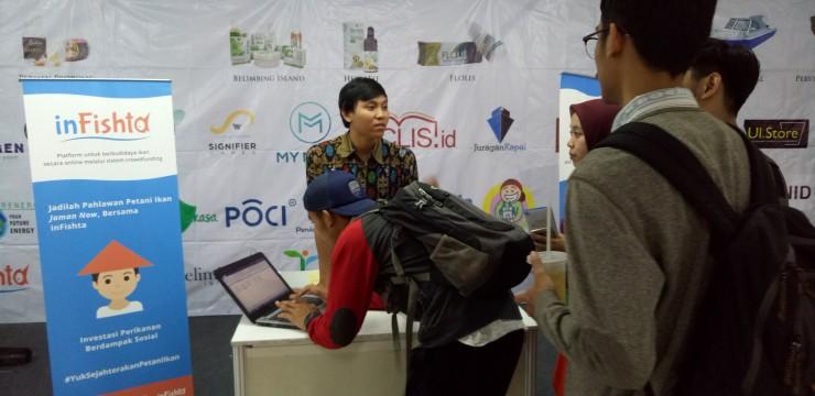Pameran Perusahaan Pemula DIIB UI di UI Career & Scholarship Expo XXV 2018