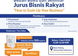 "Bedah Buku dan Seminar Jurus Bisnis Rakyat ""How To Scale Up Your Business"""