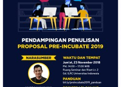 Pendampingan Penulisan Proposal Pre-Incubate 2019