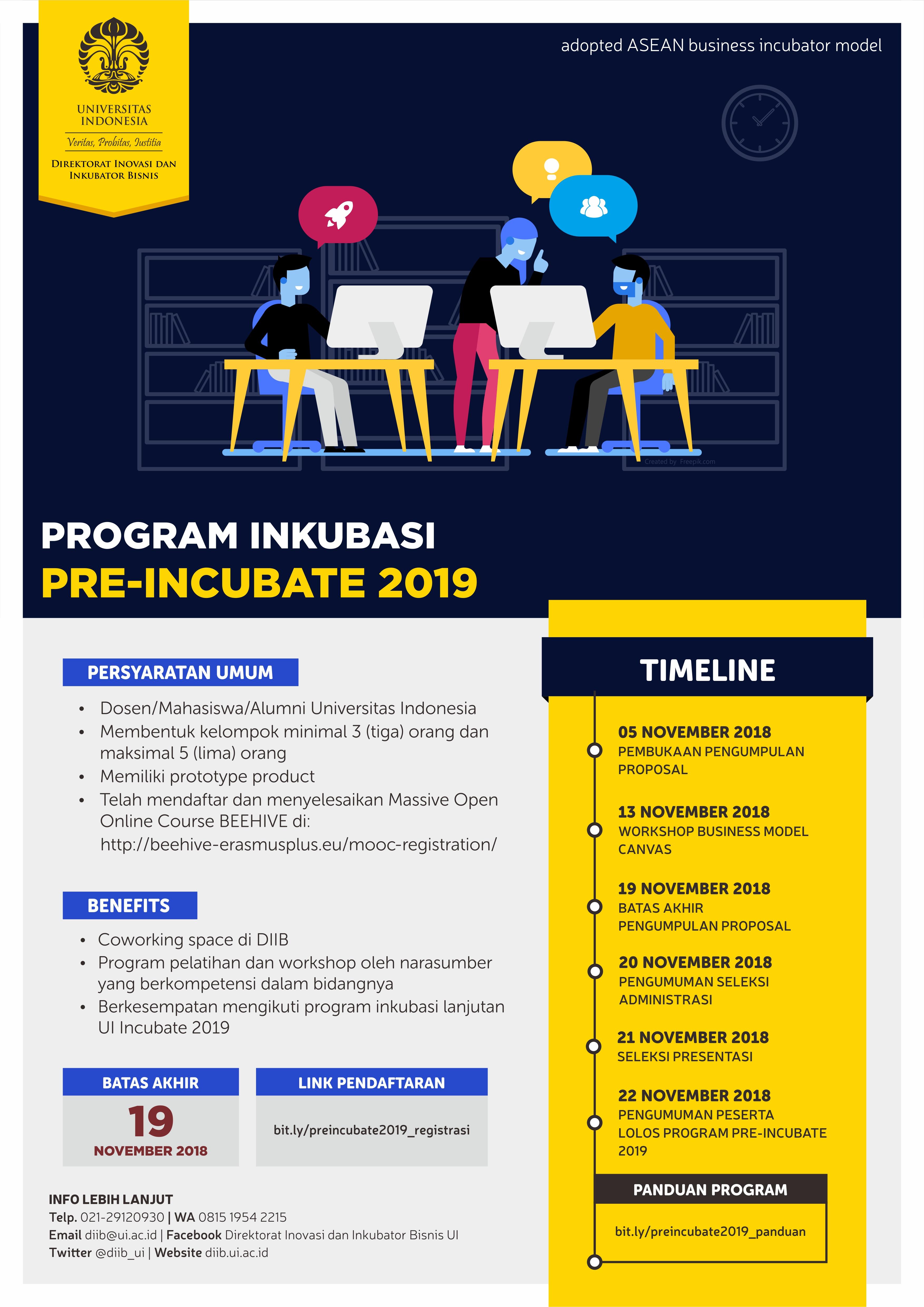 Program Pre Incubate 2019