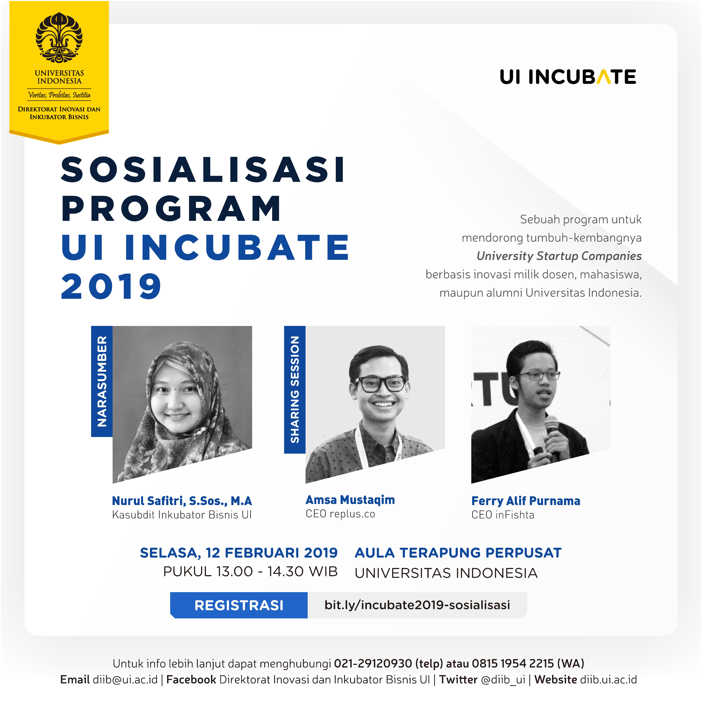 incubate - sosialiasi